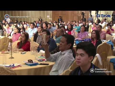 Meeting with the Filipino Community in Myanmar (Speech) 3/19/2017