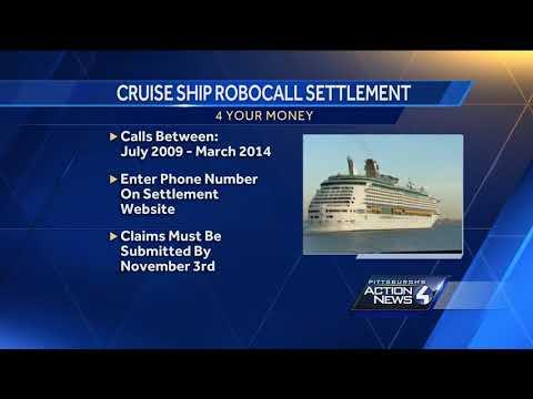 Cruise ship robocall settlement