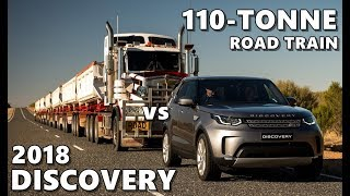 2018 Land Rover Discovery Tows Australian Road Train (110 Tonnes)