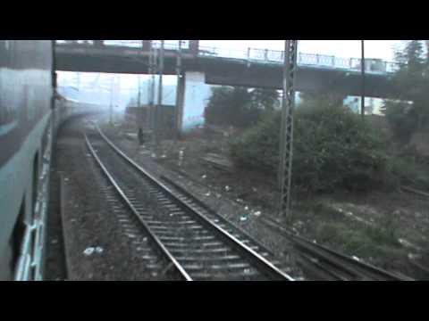 Early foggy morning arrival at Allahabad Junction: Amritsar- Sealdah Express on-board