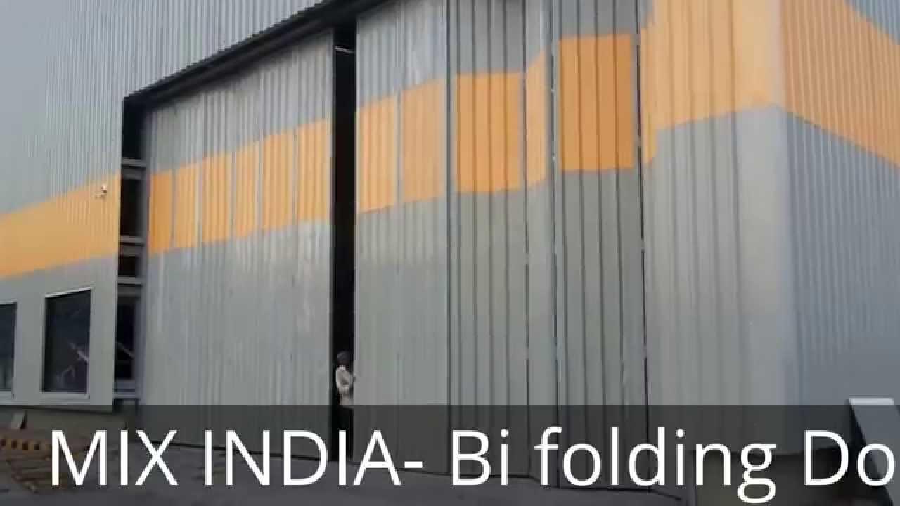 INDUSTRIAL BI-FOLDING DOORS - YouTube