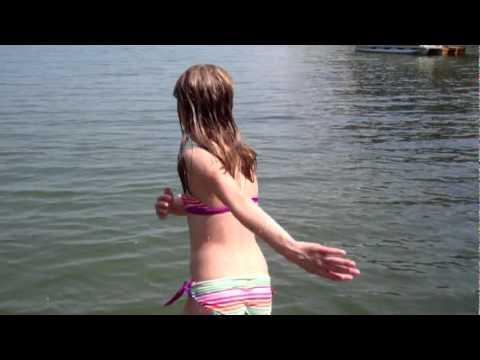 Kids Swimming In A Lake natalie and jonathan wade, jump and swim at lake murray, summer