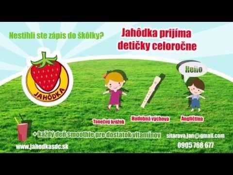 Jahôdka prijíma detičky celoročne (škôlka, Banská Bystrica)