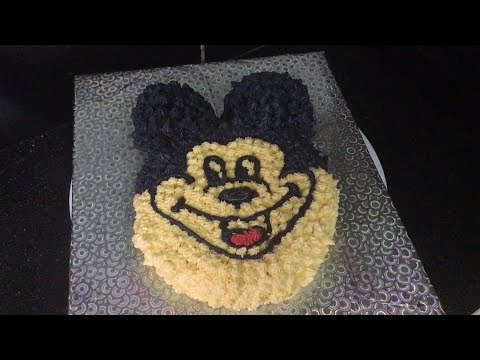 Cake At Home Eggless : Eggless Mickey mouse cake for kids birthday party - How to ...
