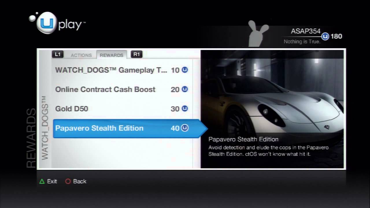 Watch Dogs - All Uplay Actions and Rewards (Bonus Theme, Cars, Guns and etc.)