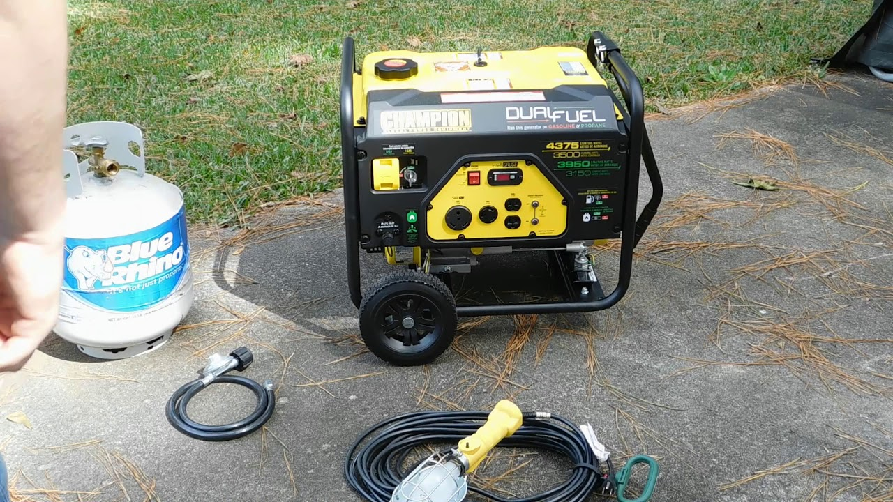 Champion 3500 Watt Dual Fuel Generator Quick Review