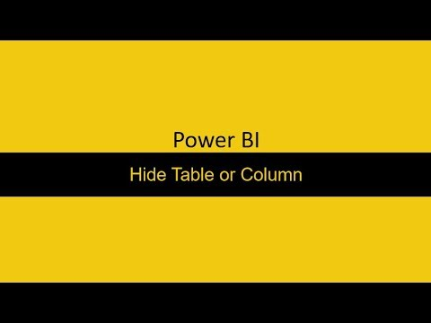 33  Hide Table and Columns Power BI