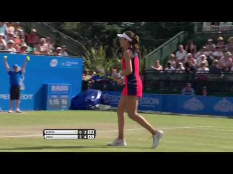 Johanna Konta Aegon Open Nottingham Final - shot of the day