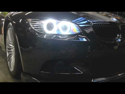 bmw m3 oneighty custom headlights e90 e92 e93 led angel. Black Bedroom Furniture Sets. Home Design Ideas