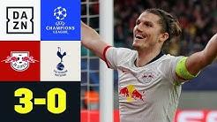 Sabitzer knipst doppelt! RB im Viertelfinale: Leipzig - Tottenham 3:0 | UEFA Champions League | DAZN