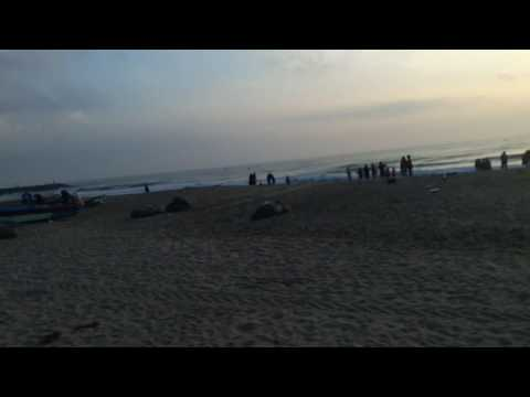 Pondicherry Serenity Beach Morning View - Dawn View at Puducherry
