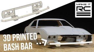 (Re-upload) Firebird Drift Build: Part 5 Designing and 3D Printing Custom Bash Bar and Rear Panel