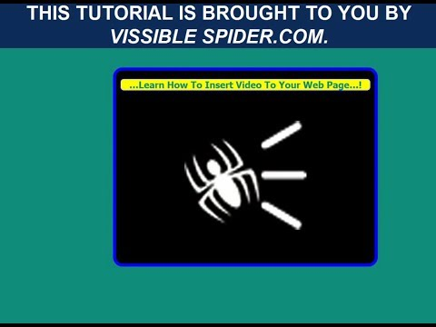 How To Insert Video To Web Page Using HTML  AND CSS, create video on web page