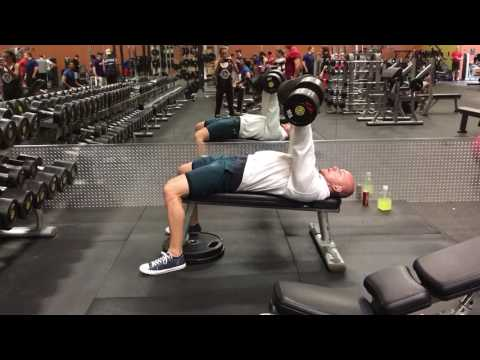 Slight Decline Dumbbell Bench Press