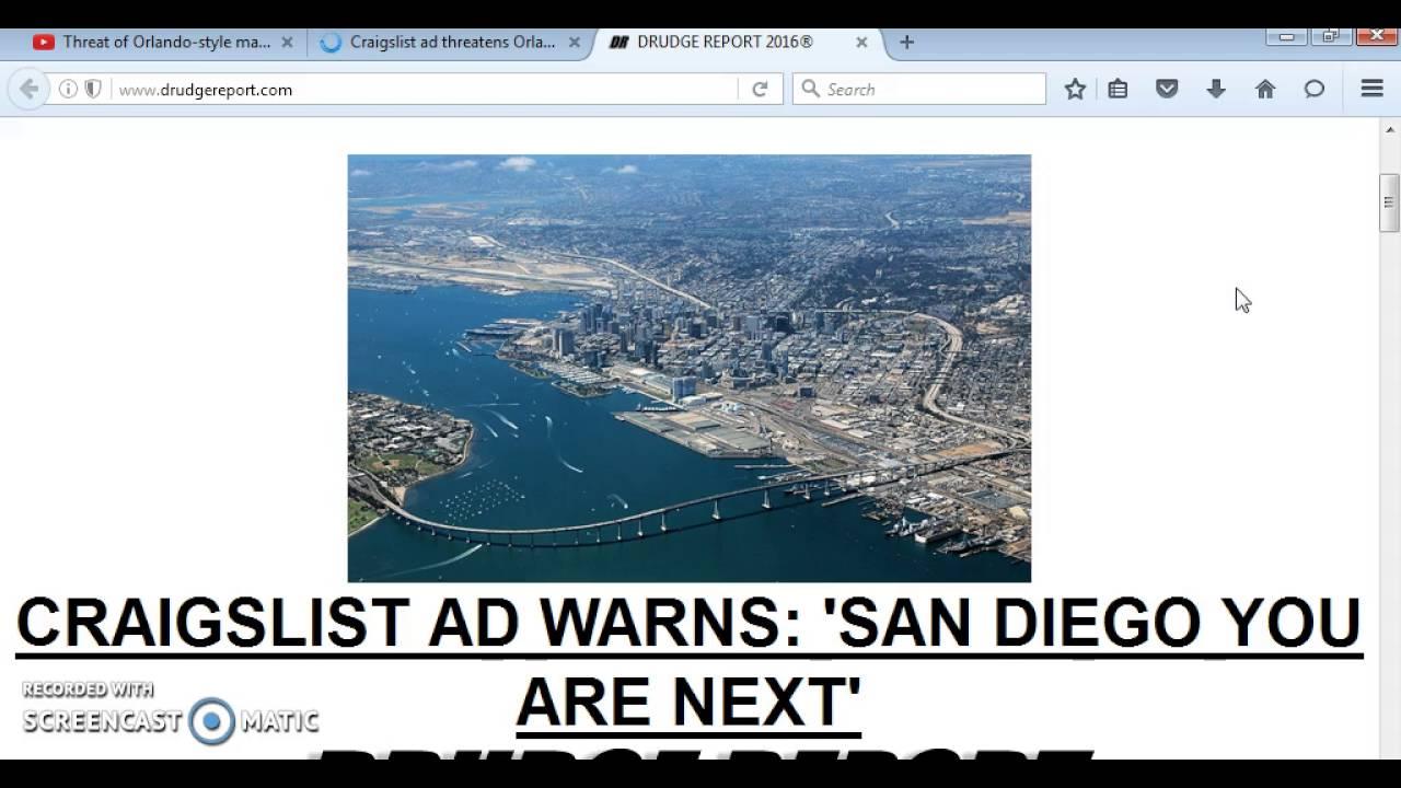 """CRAIGSLIST AD THREATENS ORLANDO STYLE MASSACRE IN SAN ..."
