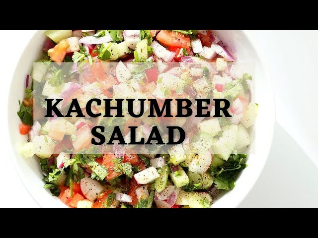 KACHUMBER SALAD | Cucumber Tomato Onion Salad Indian | Vegan Richa Recipes