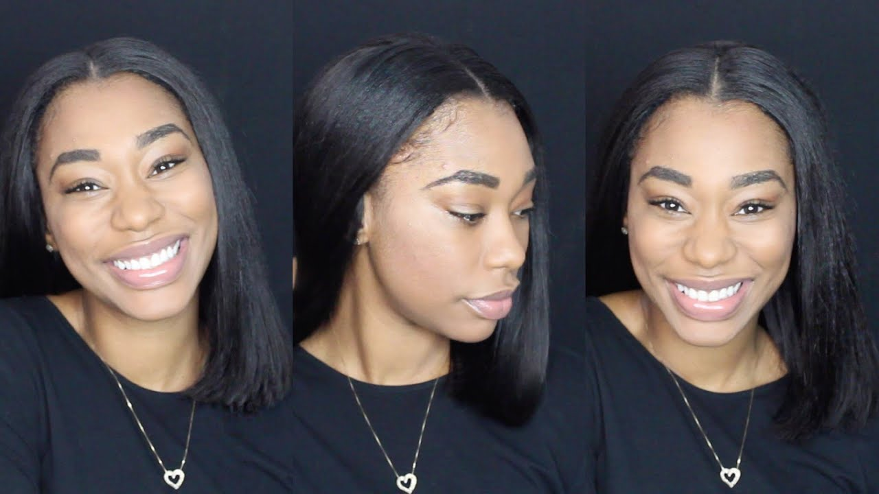 How To Do A Blunt Cut Quick Weave Chimerenicole Youtube