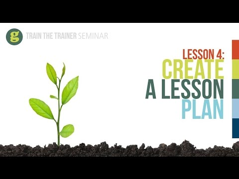 Lesson 4: Create a Lesson Plan