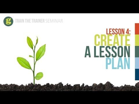 Lesson 4: Create A Lesson Plan