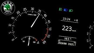2011 Skoda Octavia II 2.0 TDI 103 kW, 0-200 km/h - acceleration