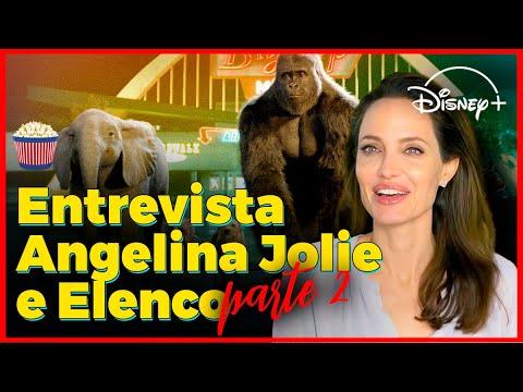 Angelina Jolie se fantasiou de elefante para gravar seu novo filme da Disney!