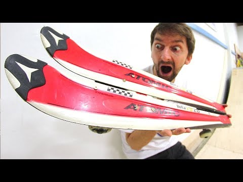 THE INCREDIBLE SKI SKATEBOARD!   YOU MAKE IT WE SKATE IT EP 166