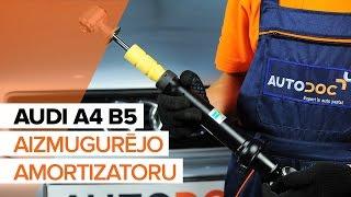 Kā nomainīt AUDI A4 B5 Aizmugurējie amortizatori [PAMĀCĪBA]