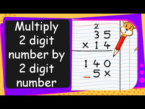 Maths Multiply Two Digit Number By A Two Digit Number English
