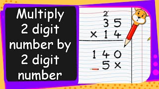 Repeat youtube video Maths - Multiply Two Digit Number by a Two Digit Number - English