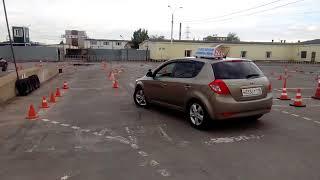 Обучение вождению автомобиля на площадке. Автошкола Гепард