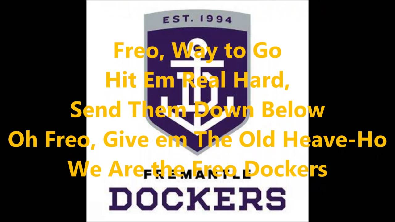 Fremantle Dockers theme song (Lyrics) AFL Sing-A-Long ...