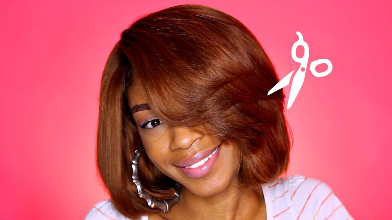 How To Cut A Feathered Bang Swoop Bang Youtube