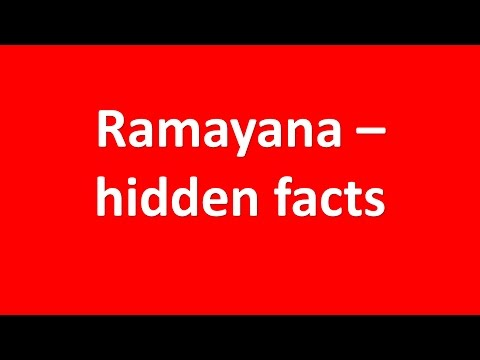 ramayana – hidden facts