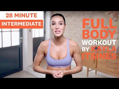 Kayla Itsines Intermediate Workout | No Kit Full Body Session