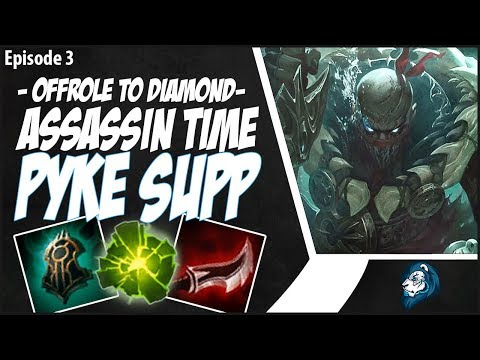 ASSASSIN TIME ON PYKE SUPPORT - OffRole to Diamond - Ep. 3 | League of Legends thumbnail