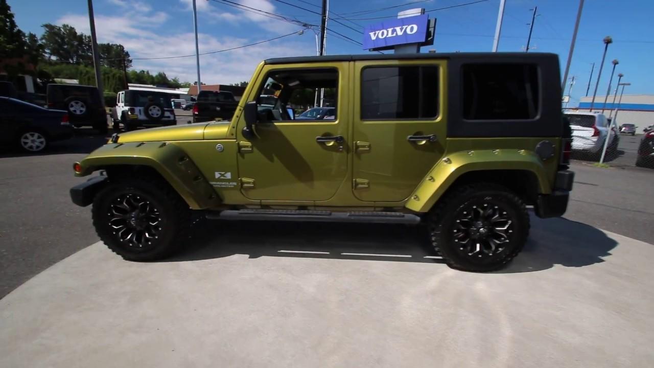 2008 Jeep Wrangler Unlimited X Jeep Green Metallic 8l519382 Mt