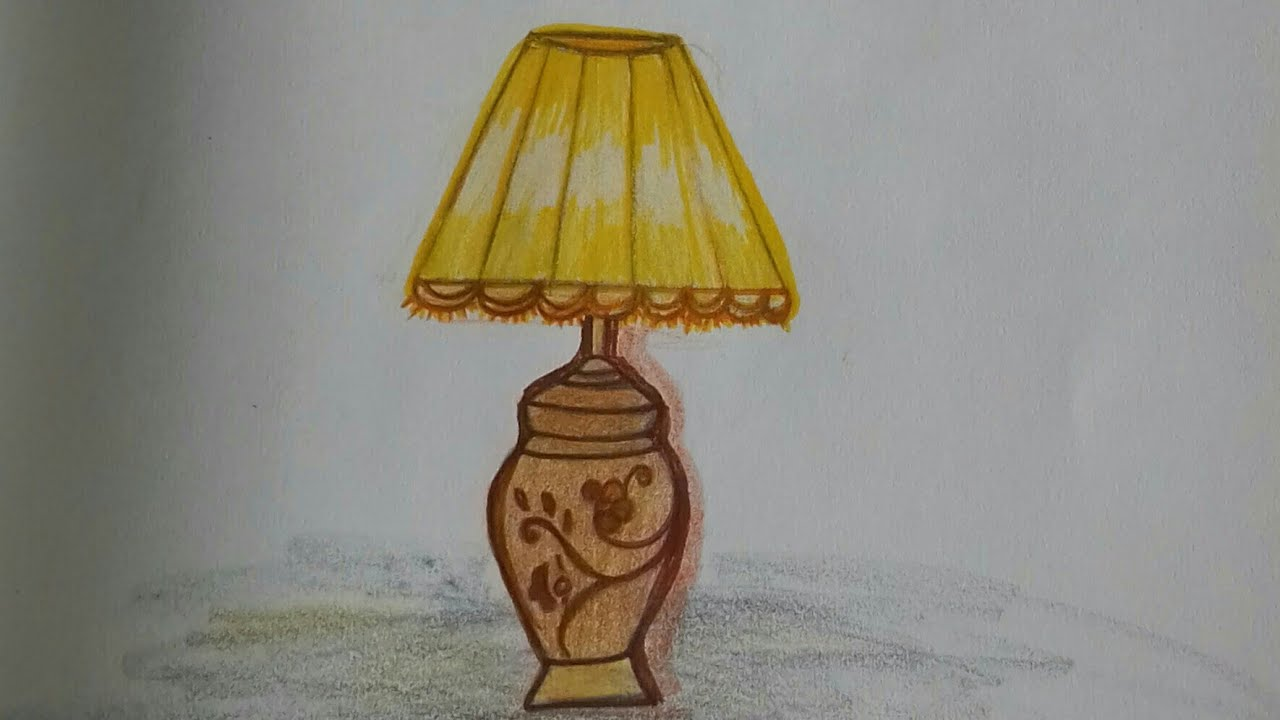 How To Draw Table Lamp