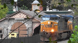 CSX Mixed Freight Train Past The B&O Museum