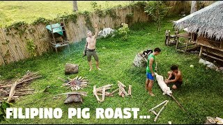 THE FILIPINO HUNTER AND A ROASTED PIG PARTY... (Fighter Boys, Philippines)