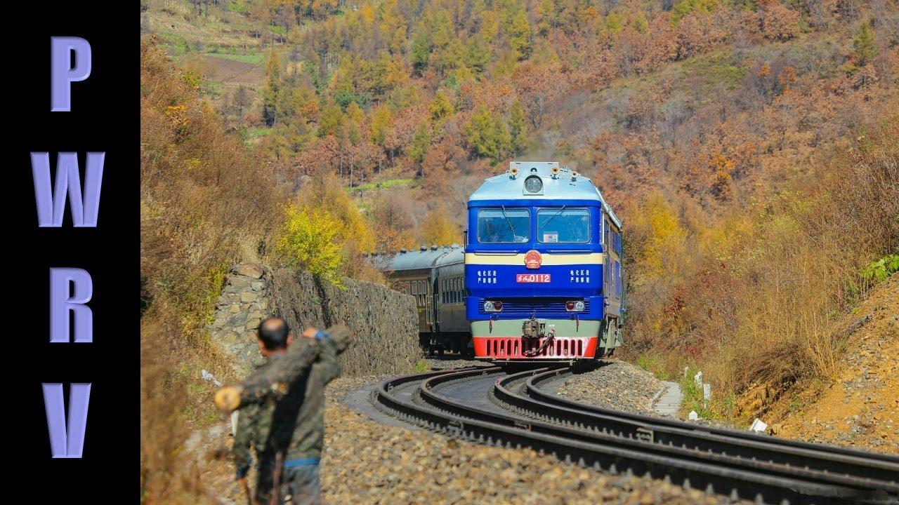 Download Chinese Railways - DF8 东风8 Class Diesel Handles Cross Border Passenger Train to Pogranichny, Russia