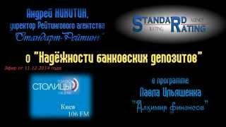 Рейтинг надежности банковских депозитов - 11.12.2014