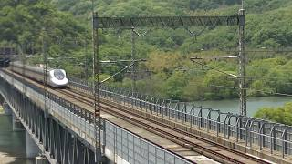 2017/4/30 700-7000系新幹線 新倉敷~岡山 高梁川橋梁にて。