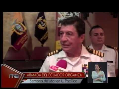 Armada del Ecuador organiza semana del Mar en U. Pacífico