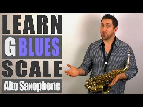 G Blues Scale - Alto Saxophone Lesson