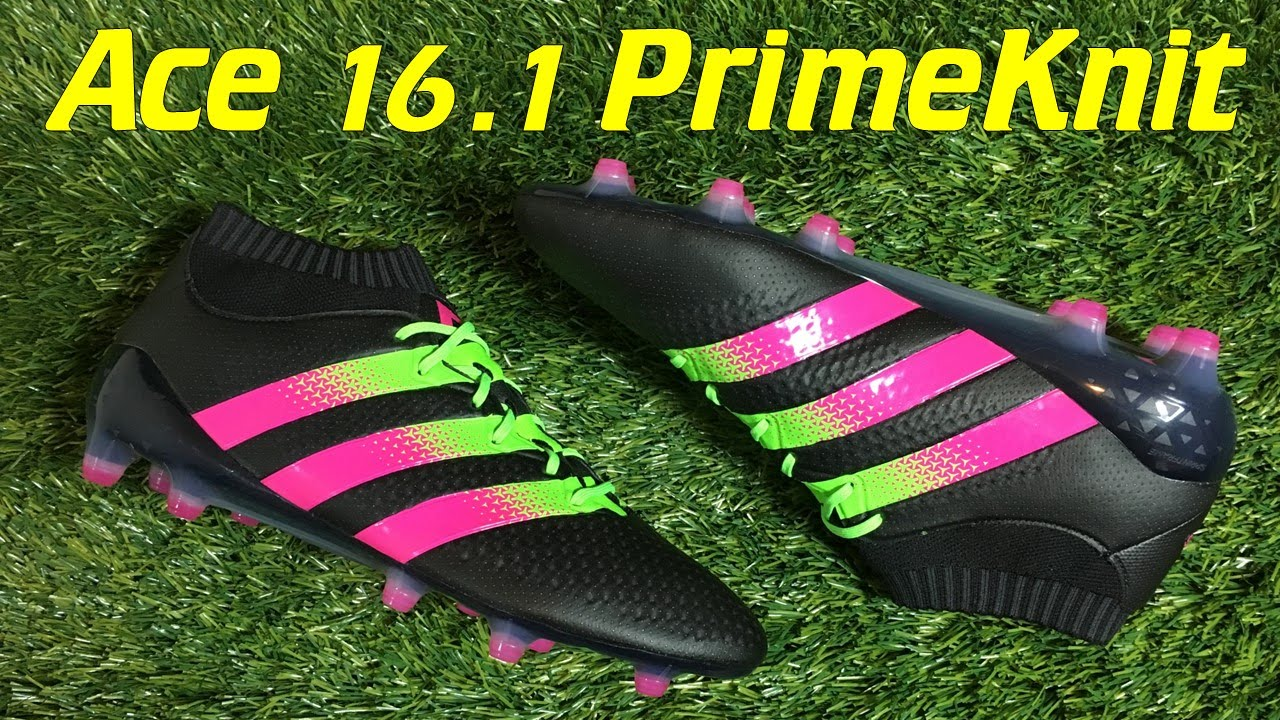 c78de42aa066 ... ireland adidas ace 16.1 primeknit black solar green shock pink review  on feet youtube 436f9 56869