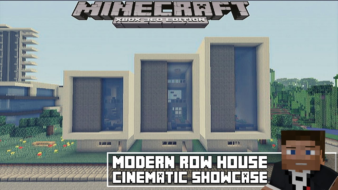 Minecraft Xbox 360 Modern Row House 2 Showcase Youtube