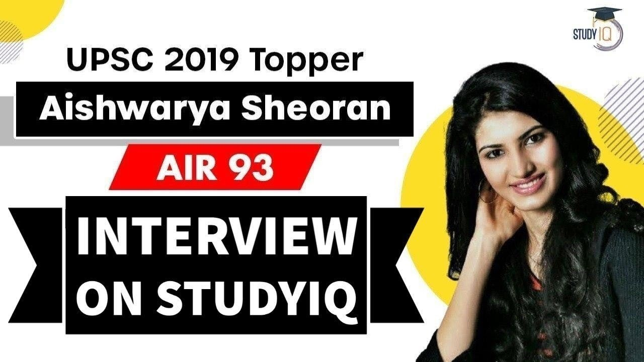 Aishwarya Sheoran Interview - UPSC 2019 AIR 93 - From Miss India finalist to UPSC Topper #UPSC #IAS