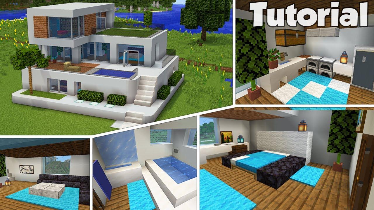 Minecraft: Large Modern House Interior Tutorial (Easy)