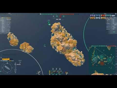 [WOWS] Independence _ 44k dmg Learning CV again ( 10 frame, replay )