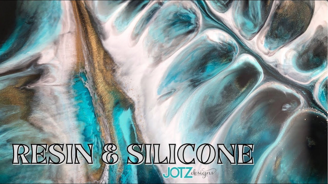 Epoxy Resin and Silicone Oil Abstract Art | Stone Coat Countertop